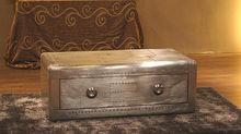 Bisini Aluminum Storage Trunk Aluminum Coffet table
