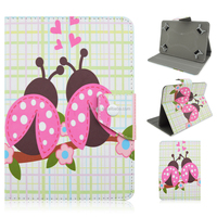 Cartoon Beetle Flip Turn Folio Stand PU Leather Tablet Cover Case For iPad Air 2