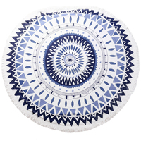 india mandala cotton round beach towel with tassel circle towel