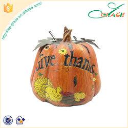thanksgiving resin artificial craft pumpkins for sale