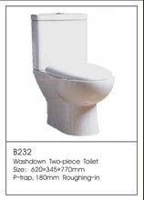 B232 Hot Sale Dual Flush One Piece Toilet China Wall Hung Toilet Unit Supplier Toilet Tank Lid Factory