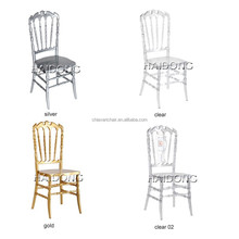 China wholesale high quality polycarbonate resin wedding crystal clear Royal chair, King chair, Queen chair