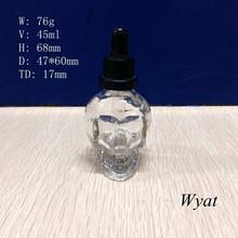 30ml skull perfume glass bottle glass skull dropper bottle SLBe130