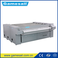 (Textile used ironing machine)commercial laundry steam flatwork ironer