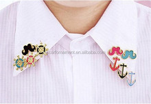 Promotional Couple Funny Coloful Moustache Black Anchor And Rudder Badge Alloy Bulk Brooch And Hijab Lapel Pins