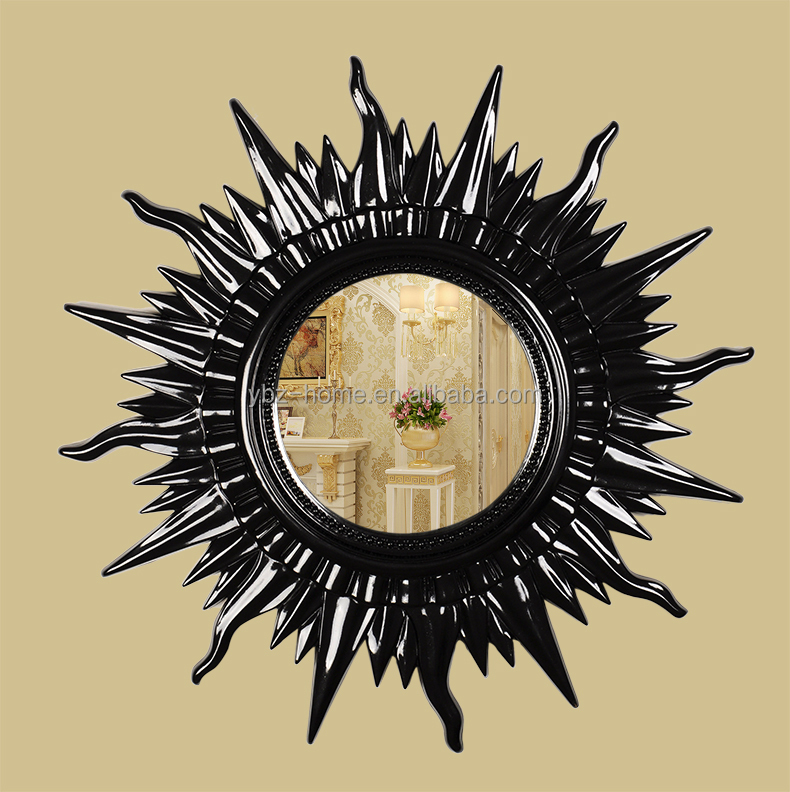 Resin oval baroque mirror french rococo mirror wall mirror for Plastic baroque mirror