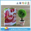 2015 Promotion Big red flower little paper bag & paper gift bag & craft paper bag with hot stamping manufacturer