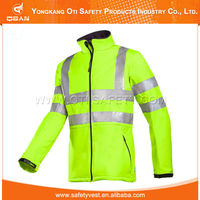 High Visibility Blue Safety Reflector Plain Varsity Jacket Wholesale
