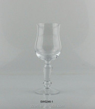 Transparent wine glass with thick stem,goblet glassware for table set