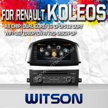 WITSON FOR RENAULT KOLEOS 2014 TAPE RECORDER DVD CAR DVD WITH 1.6GHZ FREQUENCY DVR SUPPORT WIFI STEERING WHEEL