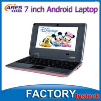Pink/Green/Red Colors Google Android 4.2 OS 7 Inch Front Camera Laptop