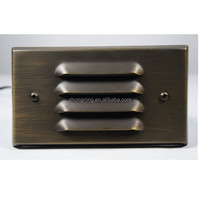 low voltage IP44 wall light brass outdoor light