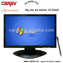 Wide touch screen larg size 19 inch CCTV12V computer monitor with high resolution 1440x900,Windows OS
