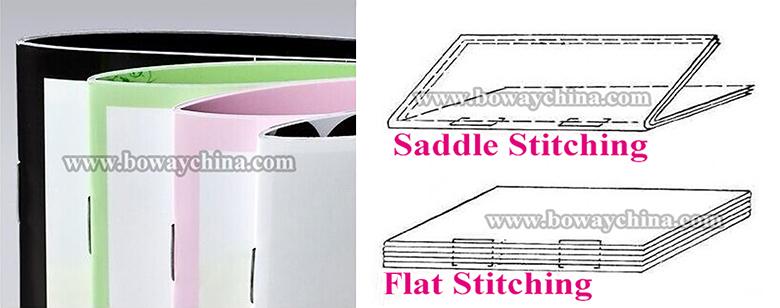 flat and saddle stitching
