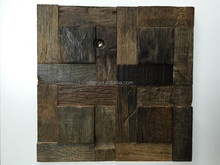 Reclaimed Ship wood wall panel use for interior decoration, Eco-friendly wood furniture