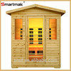 smartmak 2015 new modern house design solid wood outdoor prefab homes sauna steam room with CE certification