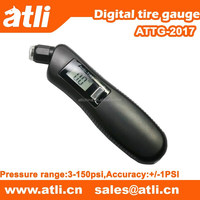 Auto emergency tool with digital tire gauge