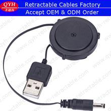 Carrete retráctil usb a 3.5 mm cable de cc distribuidor de buena calidad