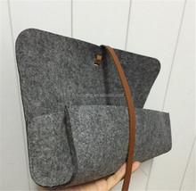wool felt bag for microsoft surface pro 3/kids shopping felt bag/felt bag for ipad 2