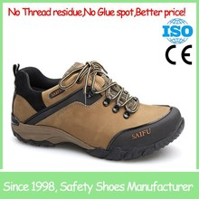 Light brown metal free lightweight safety shoes