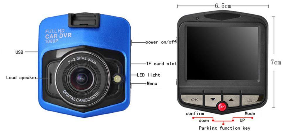 Bonne Qualité HDMI sortie Nuit vision 1080 P HD Dash cam Pour Voiture