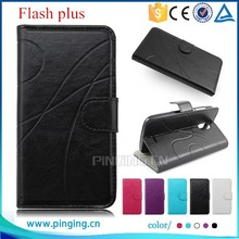 For Alcatel One Touch Flash Plus Phone Protective Case, Wallet Flip Leather Case for Alcatel One Touch Flash Plus