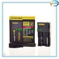 Free shipping 2015 new version 1PC Nitecore Battery Charger for 16340 10440 AA AAA 14500 18650 26650 Battery Charger Nitecore I2