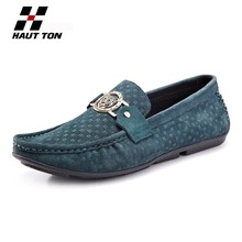 X019 Hautton wholesale fashion design fancy shiny men casual flat leather shoes