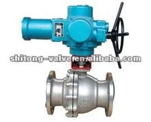 Actuador eléctrico con bridas api de tipo flotante tipo válvula de bola, motorizado válvula de bola