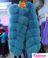 New Fashion Blue Fox Fur Vest, Fur Cloaks, Fox Fur Capes