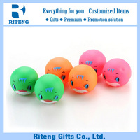 Free sample smiling ball dog toy without smell