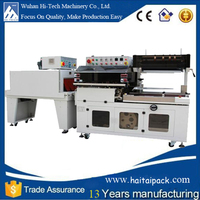 Automatic Shrink Wrapping Packing Machine/ plastic film wrap shrinking packaging machine