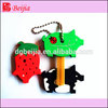 Silicone soft pvc key cover cartoon key cap for promotional gift