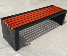 wpc metal frame water proof simple design cheap benches for the park