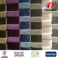 China Manufacturer produced new design knit polyester navy blue and white stripe fabric