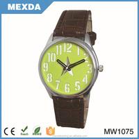 Best price Beautiful Fashion pu strap wholesale leather watch