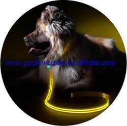 Yellow LED Light Up Dog Leash