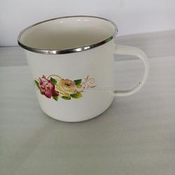 new product 2015 innovative product enamel coffee mugswith SS rim