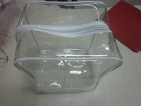off promotions cosmetic sheer pvc gift bag with zipper 2014