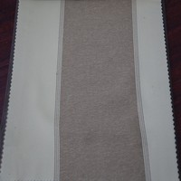 Wholesale heavy beige stripe 100% blockout lining fabric for curtain drapery