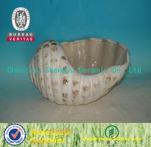 Concha de mar de cerámica para decoración en venta