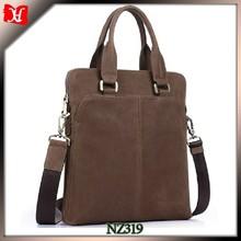 Chocolate color leather cross satchel bag documents carry bag golf bag shoulder strap