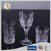 custom cheap clear glass goblet