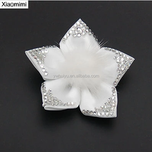 Ladies temperament cloth flower head buckle rubber band
