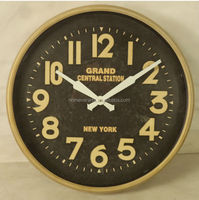 Retro brass wall clock modern design