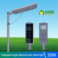 High lumens aluminium alloy shell CE CQC ROHS IEC led road lamp 30 Watts LED street light
