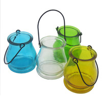 Colorful Mini Mental Handle Chinese Lantern For Candle Plant