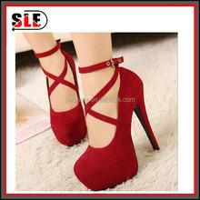 High heels waterproof suede shoes size buckle Club heels fine documentary shoes