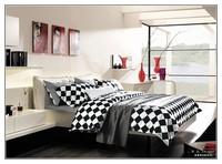 Best Quality Baby Kids Black White Bedding set, 100% kids cartoon bedding set