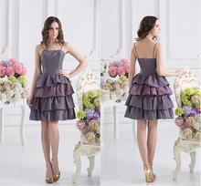 Sexy Taffeta Layered short party dress patterns Cocktail Dress TP-003